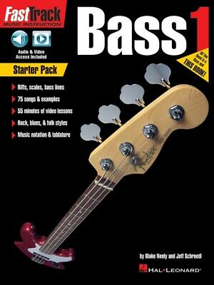 New Fasttrack Bass Starter Pack - Book CD & DVD - Fast Track Music Book