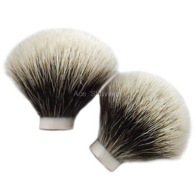 2 Pieces Of Finest Badger Hair Shaving Brush Head Knot Size 20mm Loft 50mm