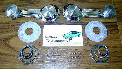 Window Crank Handles Kit Pair Washer Spring Clip Pair **In Stock** Clear knob