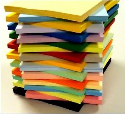 50 SHEET A5 170gsm CARD STOCK ASSORTED PACK CHOOSE FROM 25 COLOURS SCRAPBOOKING