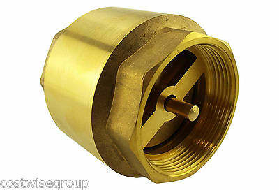 "Non Return brass valve 1/2""BSP to 2"" BSP with Brass Spring Check Valve hot cold"