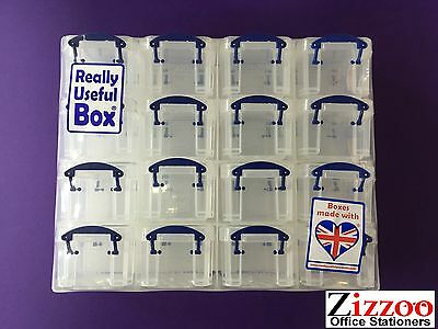 16 Drawer Really Useful Box Organiser - Great For Craft/art/diy Etc + Free P&p!