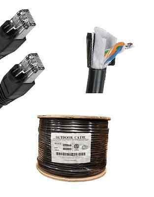 150FT Cat5E OUTDOOR BLACK 24 AWG Patch Cable