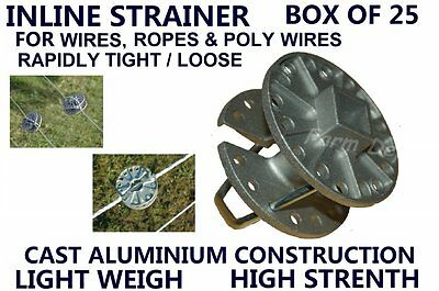 Inline Online Strainer Wire Tightener 4 High Strain Tensioning Fence Fencing Use