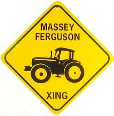 MASSEY FERGUSON XING  Aluminum Tractor Sign  Won't rust or fade
