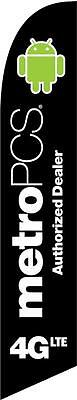 MetroPCS 4GLTE Black Feather Banner Swooper Flag - FLAG ONLY -