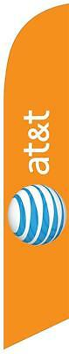 Orange At&t Wireless Feather Banner Swooper Flag - FLAG ONLY