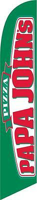 PAPA Johns 12ft Feather Banner Swooper Flag - FLAG ONLY