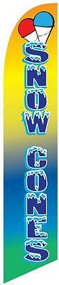 Snow Cones 12ft Feather Banner Swooper Flag - FLAG ONLY