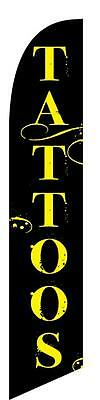 Tattoos 12ft Feather Banner Swooper Flag - FLAG ONLY