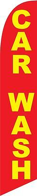 Car Wash (red and yellow) 12ft Feather Banner Swooper Flag - FLAG ONLY