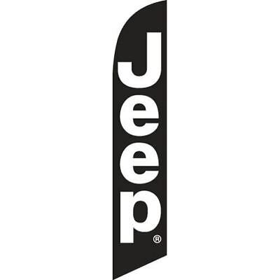 JEEP (black) 12ft Feather Banner Swooper Flag - FLAG ONLY