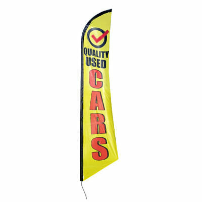 Quality Used Cars 12ft Feather Banner Swooper Flag - FLAG ONLY