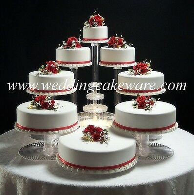 8 TIER CASCADE WEDDING CAKE STAND STANDS SET