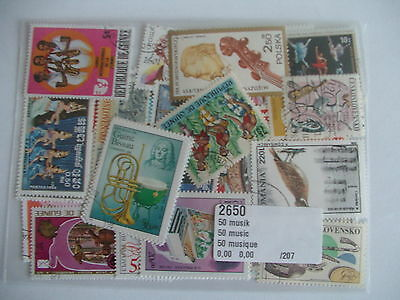 Timbres Musique : 50 Timbres Tous Différents / Stamps Music