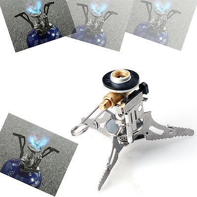 Portable Outdoor Mini Gas Butane Propane Steel Camping Hiking Stove Burner