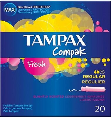 Tampax Compak Applicator Tampons Fresh Regular (20)