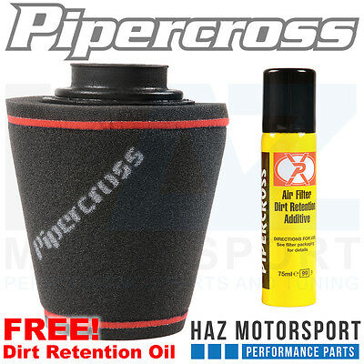 PIPERCROSS AIR FILTER UNIVERSAL INDUCTION CONE RUBBER NECK 80mm x 200 x200 C0187