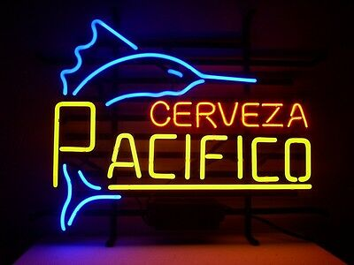 New Cerveza Pacifico Real Glass Neon Light Sign Home Beer Bar Pub Sign H95