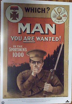 WW1 AUSTRALIAN ARMY RECRUITING POSTER set of six - A3 SIZE