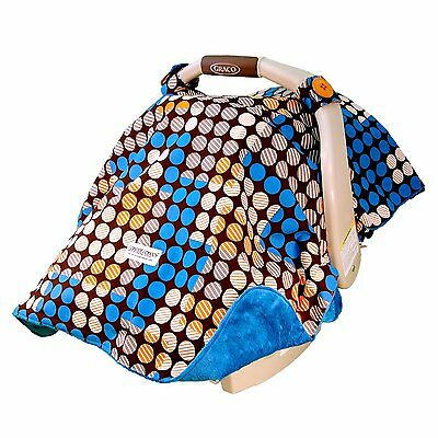 "Carseat Canopy Baby Car Seat Canopy Cover Blanket Cotton Brand New "" Aiden"