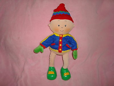 "Caillou winter Edition 2002 15"" Plush wired Pose-able, bendable"