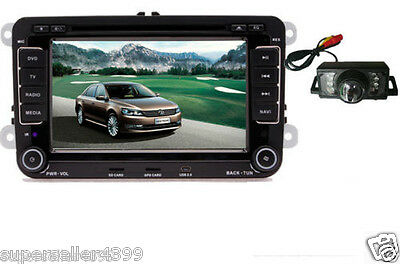 "VW Passat Jetta Golf Tiguan Car GPS 7""HD LCD Stereo 2DIN DVD Player+Camera"