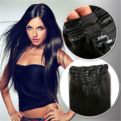 """HOT sale 16"""" 9pc 100g remy grade clip-in on real human hair extensions any color"""