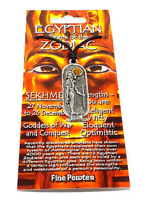 Sekhmet (War / Conquest) Egyptian Cartouche Pendant  (Lucky Astrology Necklace)