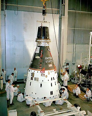 Gemini 11 Pre-Flight Maintenance At Kennedy Space Center - 8X10 Photo (Ep-891)