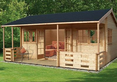 Log Cabin 'Kingswood' 18G'x20' in 44mm Pine Logs RRP £7499 Now Only £7265