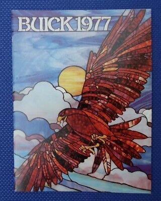 1977 BUICK Automobile Large Color Buyers Guide Sales Brochure - New Old Stock