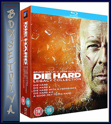 Die Hard - Legacy Collection - All 5 Films  *brand New Blu-Ray Boxset *
