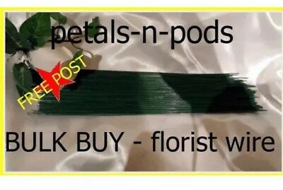 BULK BUY 22 Gge FLORIST WEDDING FLOWER GREEN WIRE 9 inch x 2 KILO - FREE POST