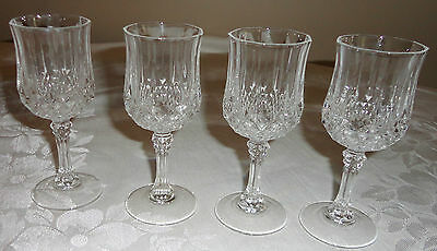Set Of 4 Cristal D'arques Longchamp Champagne Wine Shot Glass France