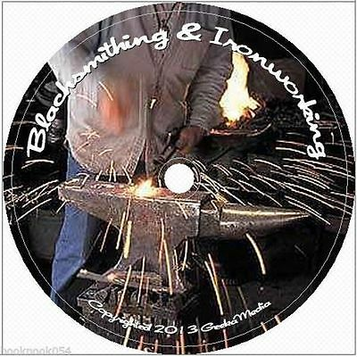 Learn Blacksmithing at Home 129 Books dvd Metal Work Blacksmith Forge Cast Iron