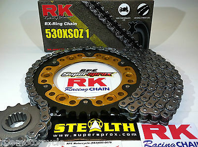 HONDA 92/99 CBR900RR FIRE BLADE RK X-Ring 530 SUPERSPROX CHAIN AND SPROCKETS KIT