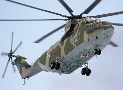 Mil Mi-26 Russian Air Force Helicopter Desk Wood Model Large