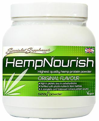 HempNourish 500g Hemp Protein Powder Beneficial Herbs and Superfoods (HempPro)