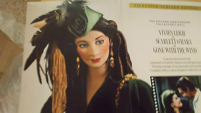 SCARLETTE OF GONE WITH THE WIND DOLL  BY FRANKLIN MINT DIAMONDS & EMERALDS NEW