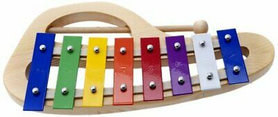 D'Luca 8 Notes Rainbow Xylophone Glockenspiels with Music Cards, TH8C