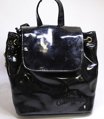AUTHENTIC CARLOS FALCHI BAG  BACKPACK BLACK USA