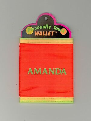 Personally Yours Wallet ~ DONNA ~ Stocking Stuffer ~ Pink Personalized Wallet