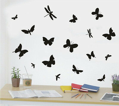 VINILO DECORACION-STICKER-PEGATINA  PARED BUTTERFLY-DRAGONFLY  50x70 GRANDE.