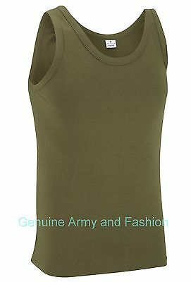 New Combat Us Olive Army Singlets Sleeveless Vests Tank Top Fancy Dress
