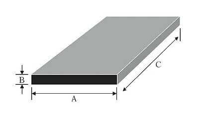 """Aluminium Flat Bar / Plate widths from 1/4"""" to 25mm many thicknesses and lengths"""