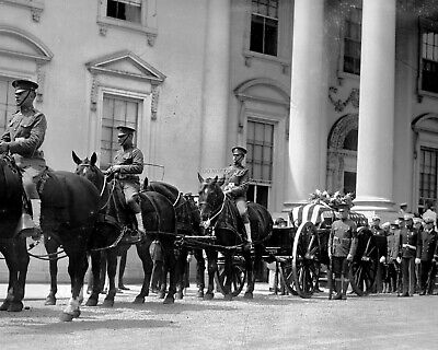 Funeral Procession For Warren G. Harding 29Th U.s. President 8X10 Photo (Ep-904)