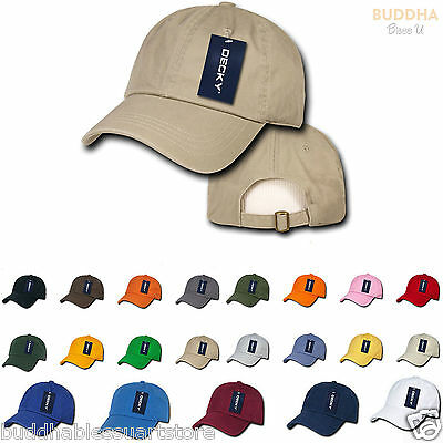 159d4b5659e DECKY Polo Vintage Washed Look Cotton 6 Panel Low Crown Dad Hats Caps