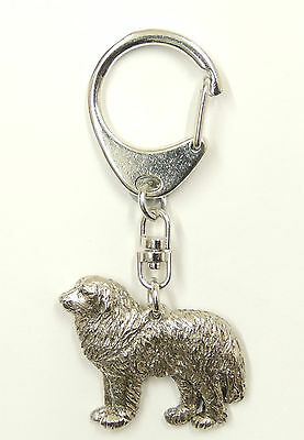 Pyrenean Mountain Dog Silver Keyring