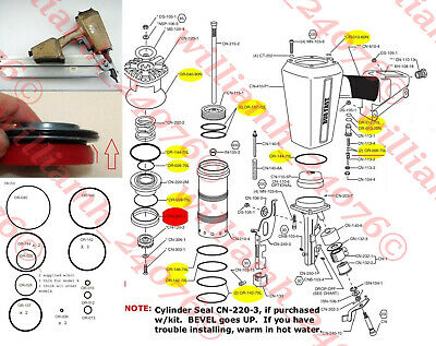 Duo-Fast CN350 O ring + Cylinder Seal Parts Kit